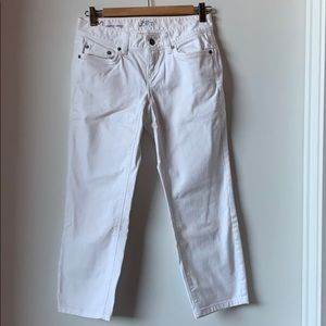 Loft White Cropped Jeans
